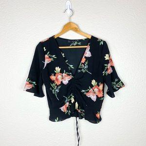Topshop Floral Blouse